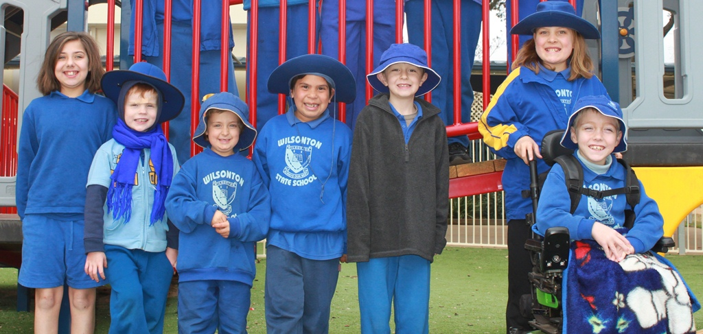 Group of Special Education Program students in playground